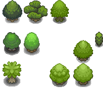 Tons of Tileset 3/10 - Gaia Trees by Phyromatical