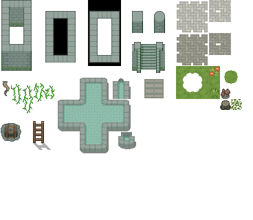DoT Day3 - Forest Dungeon Tileset by Phyromatical