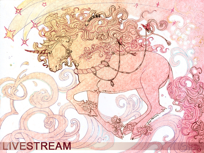 Unicorn livestream: offline by chutkat on DeviantArt