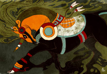 Tezcatlipoca Warrior by chutkat