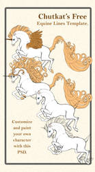 Free Equine Lineart Template