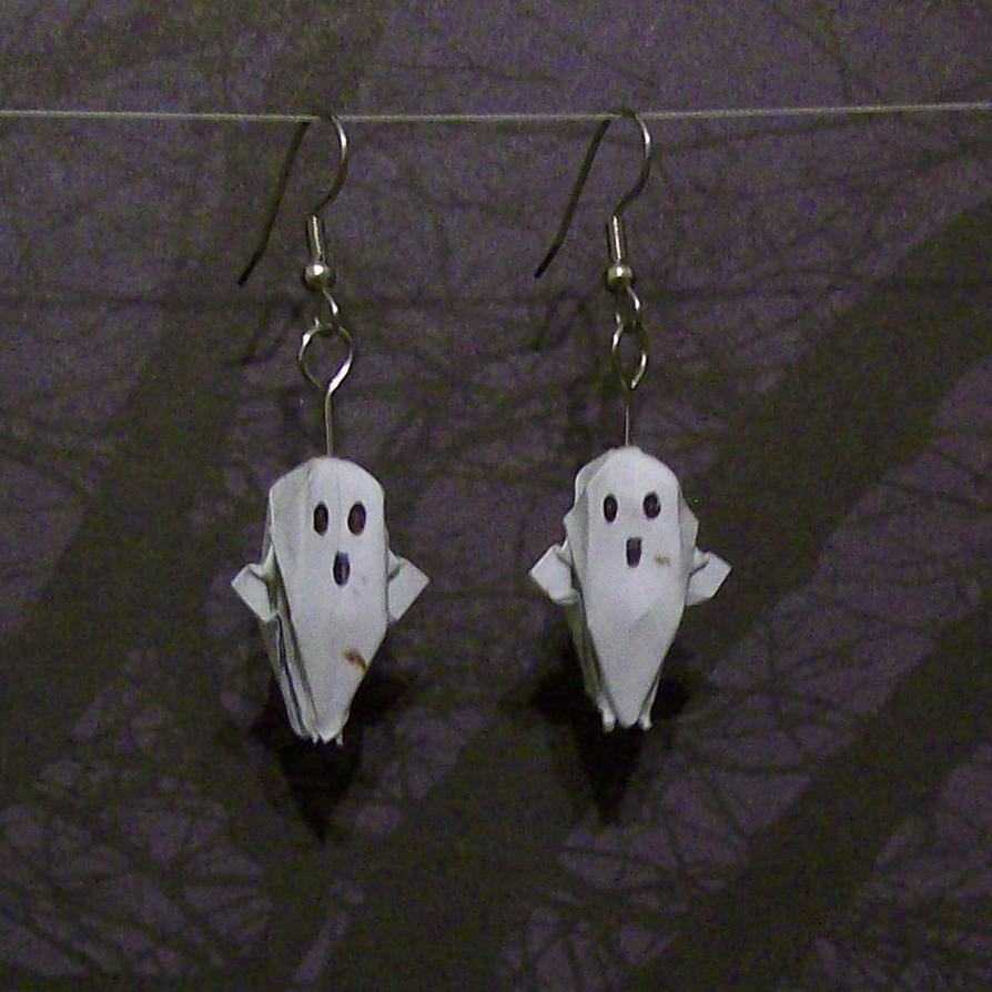 Ghost Origami Earrings By CreationsByJessie