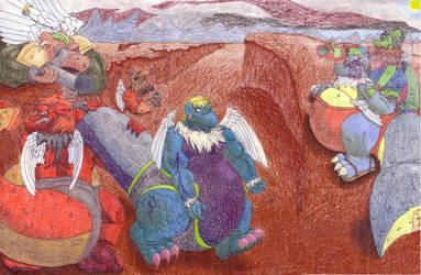 Alien Badlands Battle by FerreTrip
