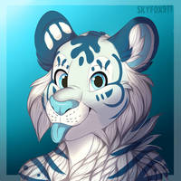 Commission: White tiger  by skyfox911