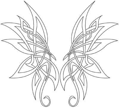 Celtic Butterfly Tattoo Designs 6