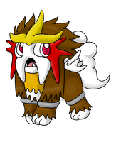 Chibi Entei :: redone by TheLittleNymph