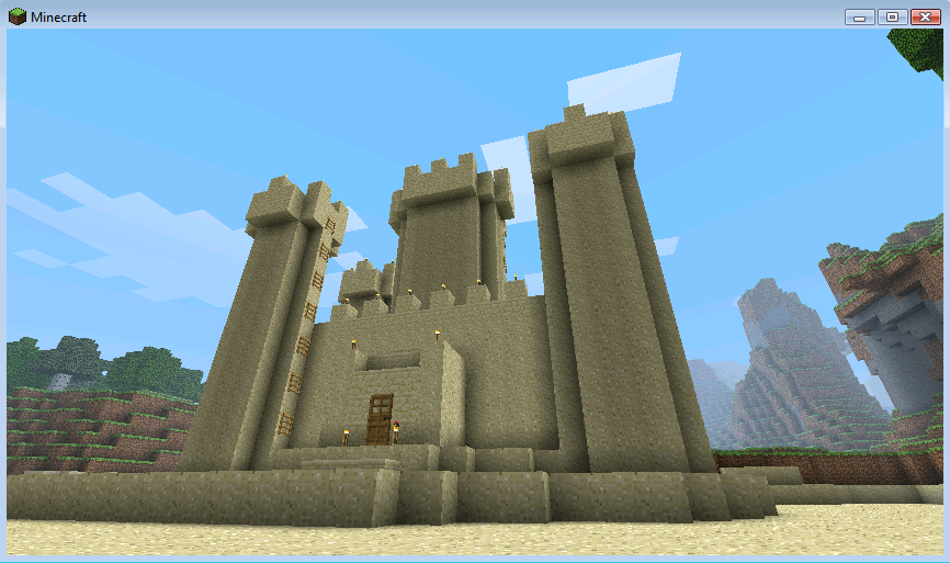 Minecraft Sand Castle by SalamanderDe