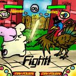 Hamster vs Turkey by KLouDraws