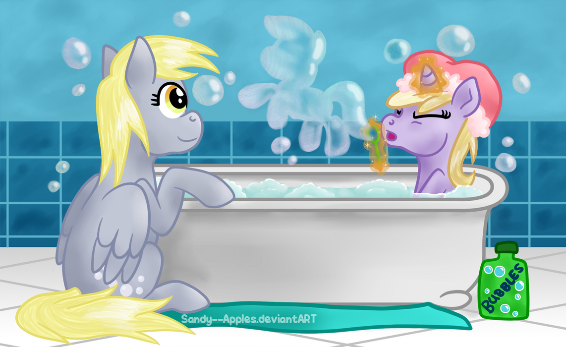 Bubble Bath by Sandy--Apples
