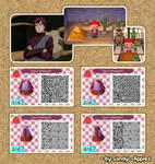 Animal Crossing QR Code: Gaara - Shippuden