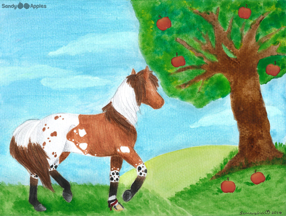 August's Apple Tree by Sandy--Apples