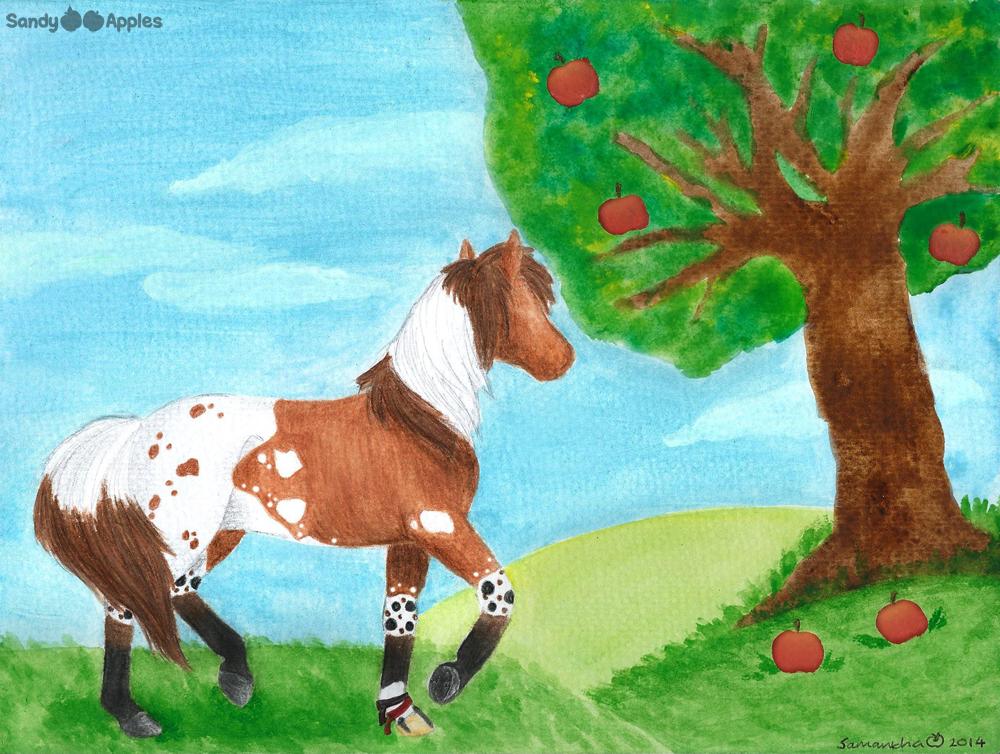August's Apple Tree by Sandy--Apples