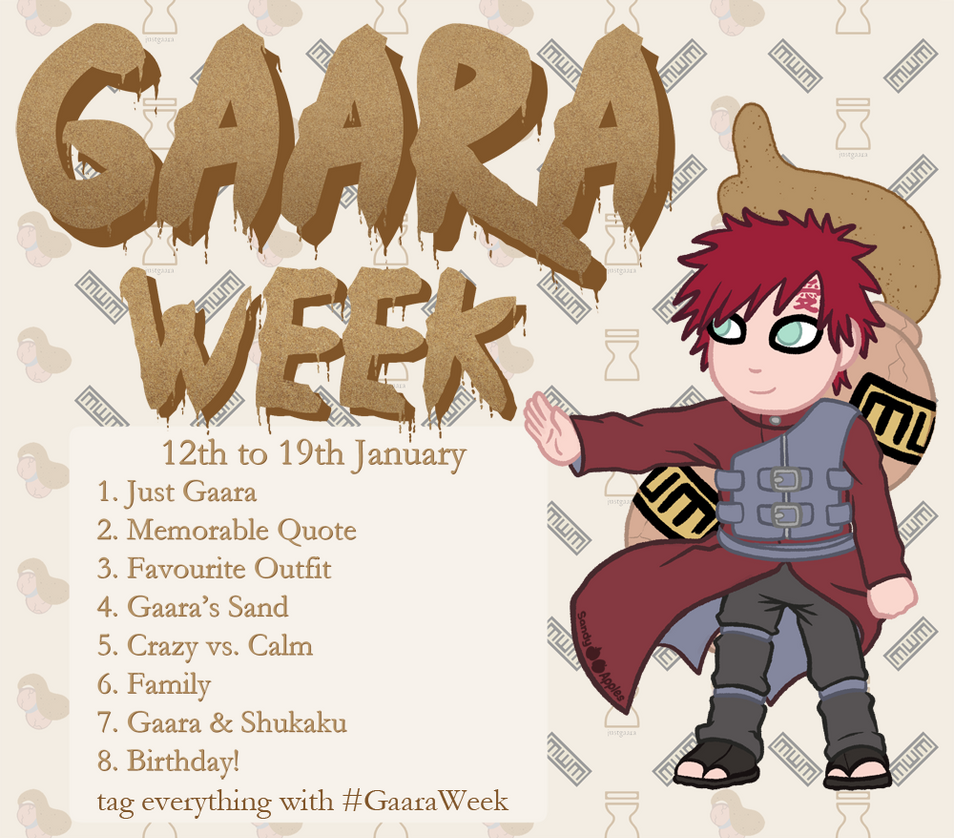 Gaara Week By Sandy Apples
