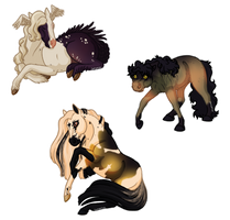 Cynix, Crux and Valkyrie - Stickers by Sandy--Apples
