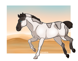 [COMMISSION] Hooves On Barren Ground by Sandy--Apples