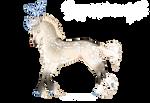 [F313] Boucle Unicorn Foal Design - Alaska