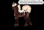 [W157] Boucle Unicorn Foal Design