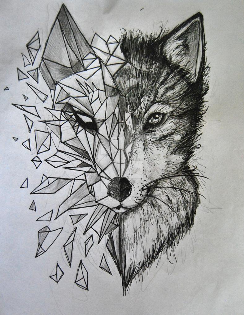 wolf tattoo by herzlose on deviantart. Black Bedroom Furniture Sets. Home Design Ideas