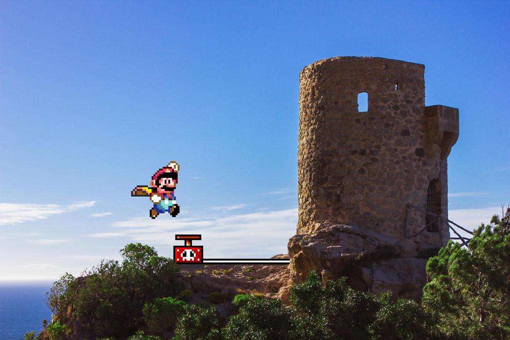 Real Bits - Super Mario World: Castle Demolition by VictorSauron
