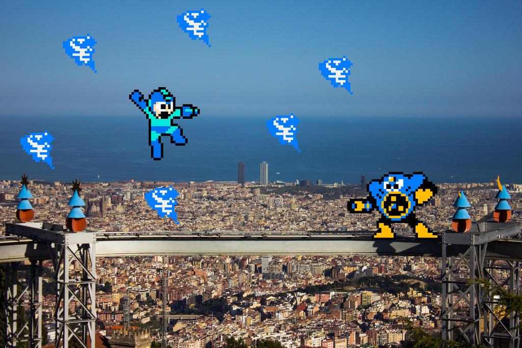 Real Bits - Mega Man: Air Man stage