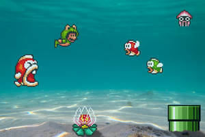 Real Bits - Super Mario Bros 3: Seabed by VictorSauron