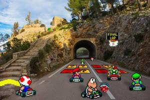 Real Bits  Super Mario Kart: vanilla mountain