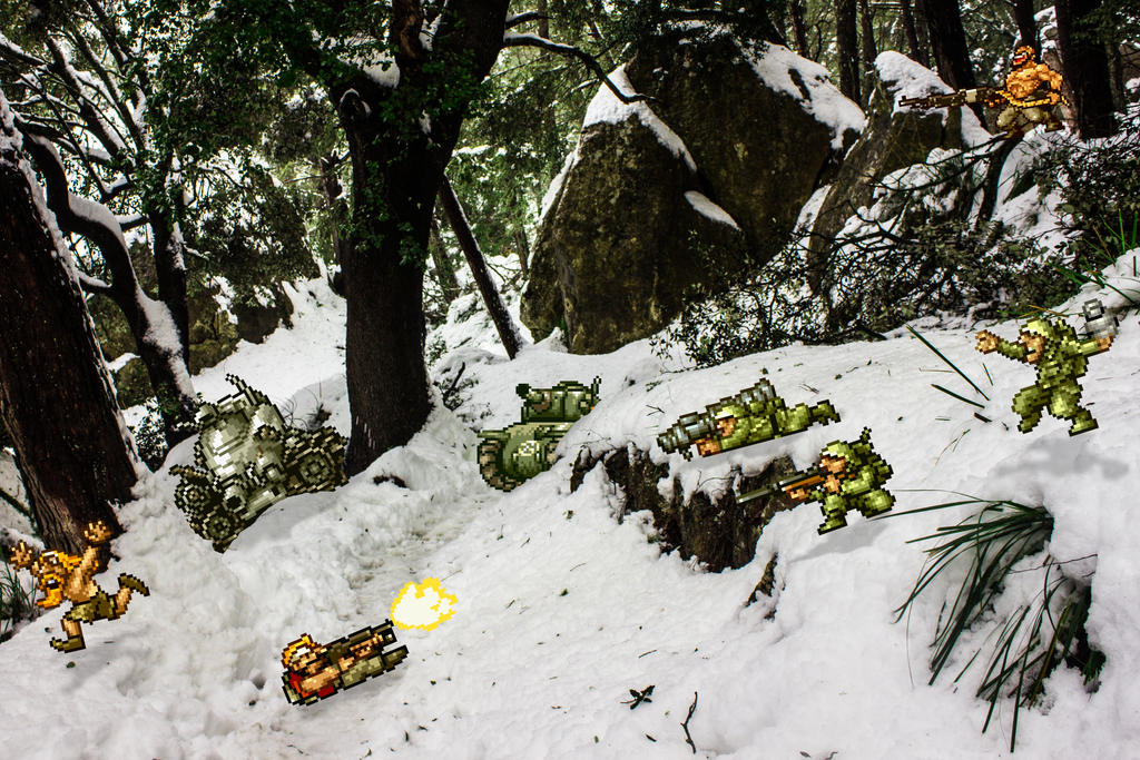 Real Bits - Metal Slug: forest raid by VictorSauron