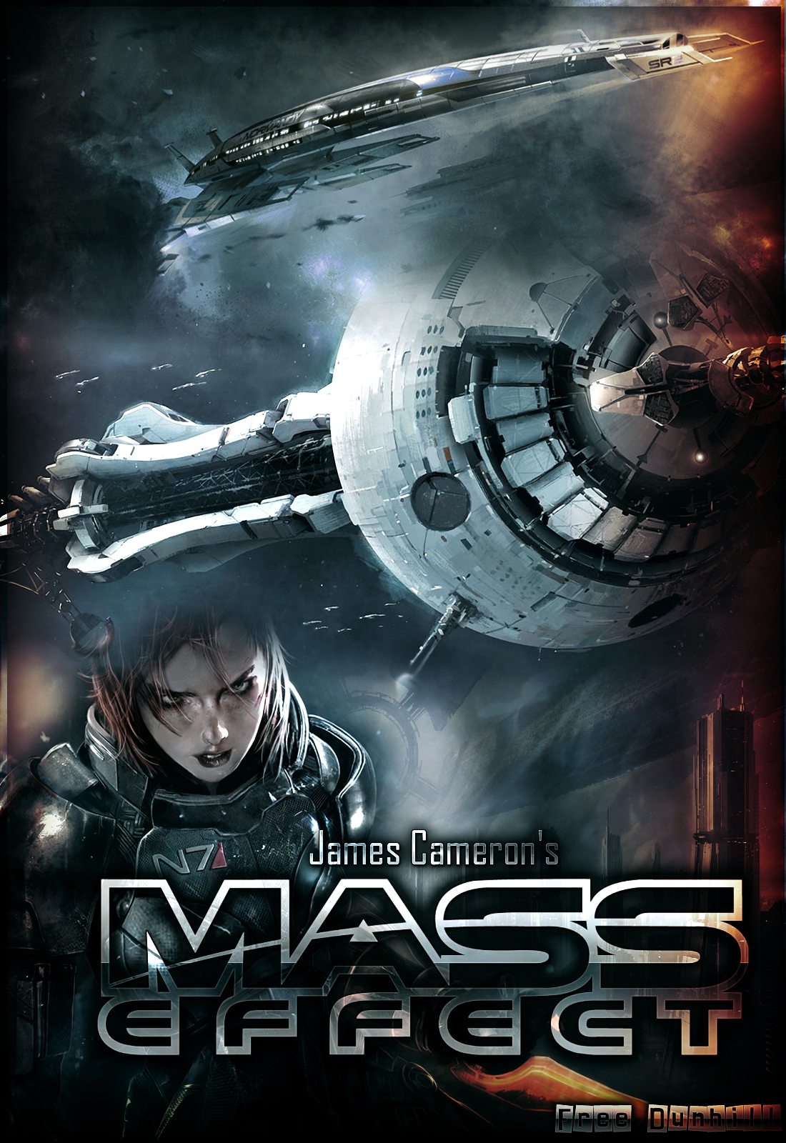 Mass Effect James Cameron's Movie Cover by FREEDUNHILL