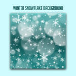 Bokeh Snowflake Graphics