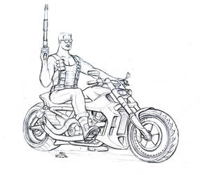Duke's Bike Sketch by gt1750