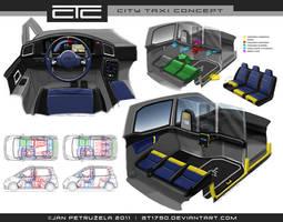 City Taxi Concept V2 Interior
