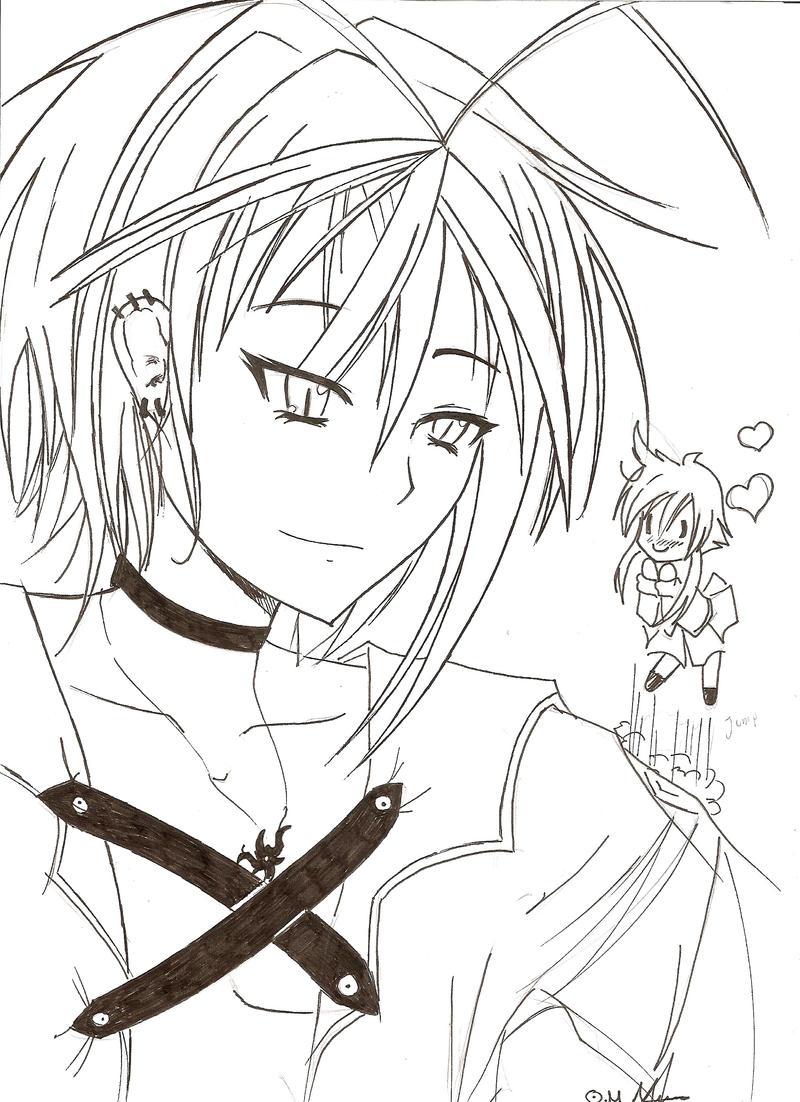 Anime Boy Oc Line Art By Razor Sensei On Deviantart