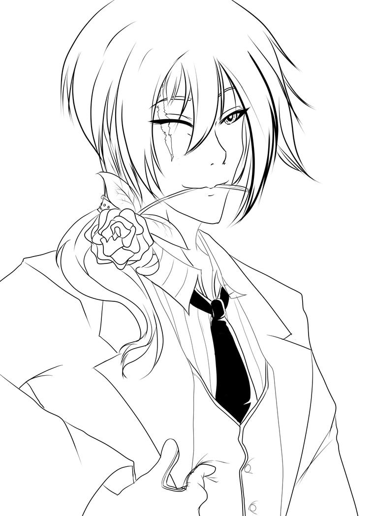 butler lineart by razor sensei - Black Butler Chibi Coloring Pages