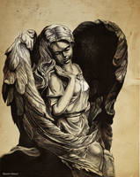 Angel drypoint by Razor-Sensei