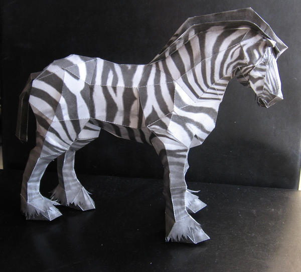 Zebra papercraft by P-M-F