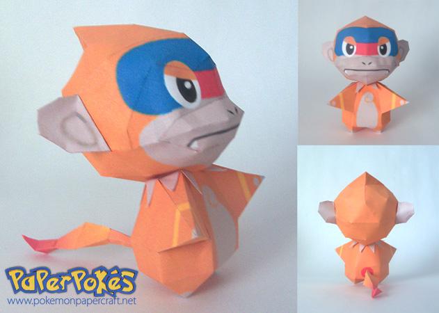 Monferno chibi papercraft by P-M-F