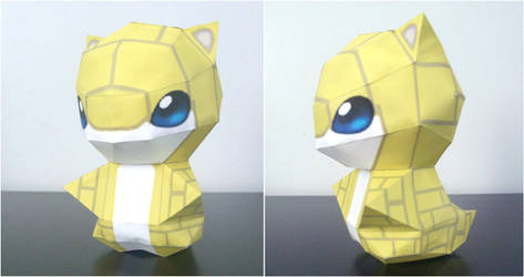 Sandshrew Chibi papercraft