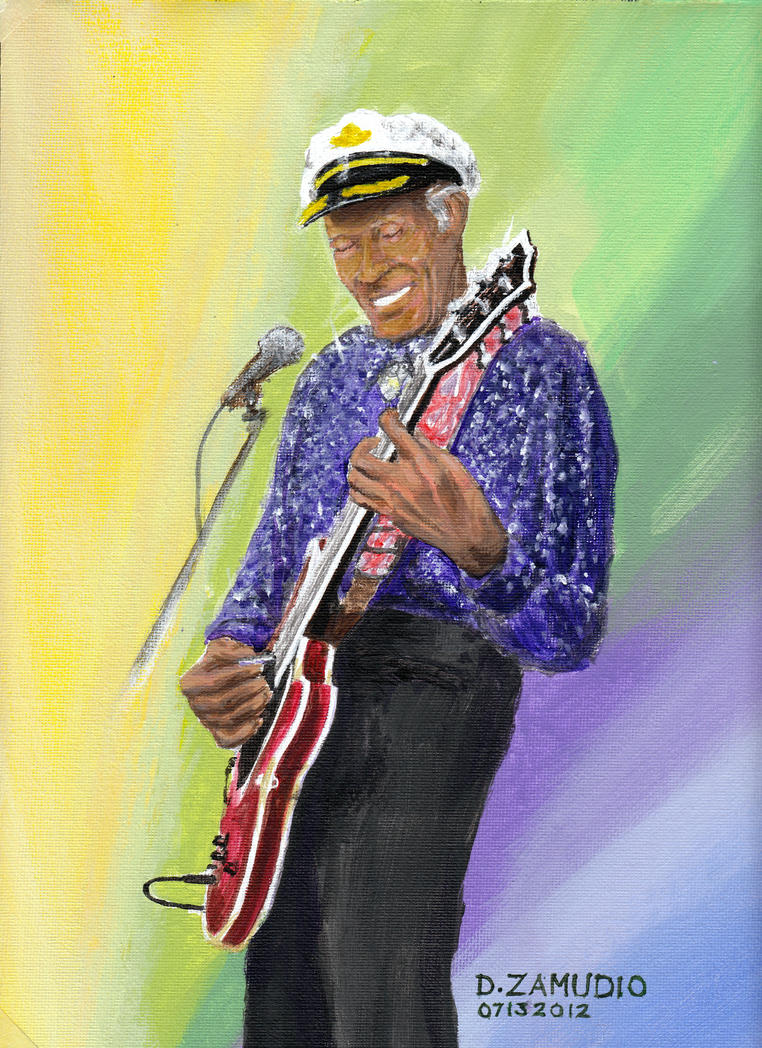 Chuck-Berry-Port-lrg-Zamudi by Artist-DavidZamudio