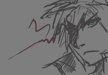 Cloud - Annoyance? by Ex-Soldier-Cloud