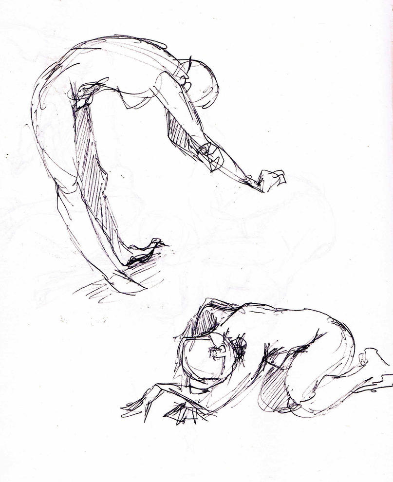 Quick Gesture Sketches by Ex-Soldier-Cloud