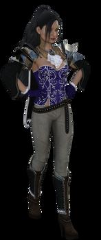 Eva dressed