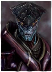Javik The Protean- Fan Art-Mass Effect by iWILLsketch