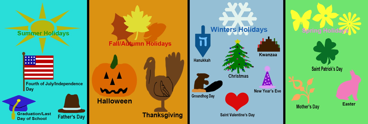 The Seasons and their Holidays 2 by srebak