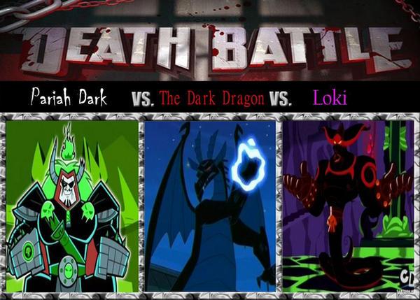 Death Match; The Ghost King vs. The Dragon of Dark by srebak