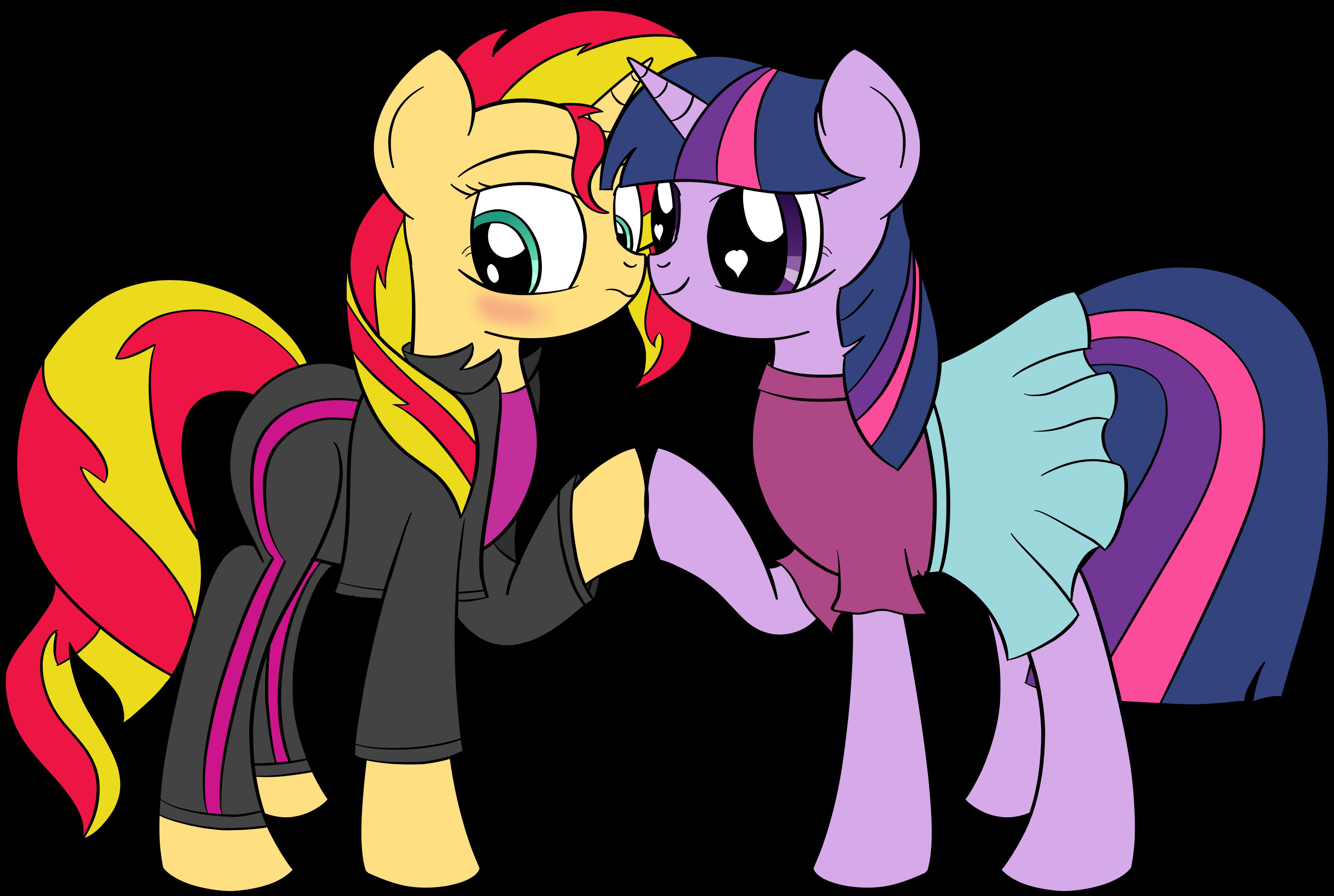 Friendship Games Alternate Version - Sunset Shimmer hugs