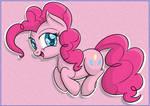 Pinkie Pie jumping happily