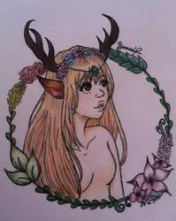 Deer girl by kirinasan