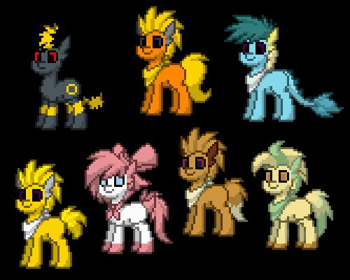 Pony Town Eeveelutions By Venombronypl On Deviantart