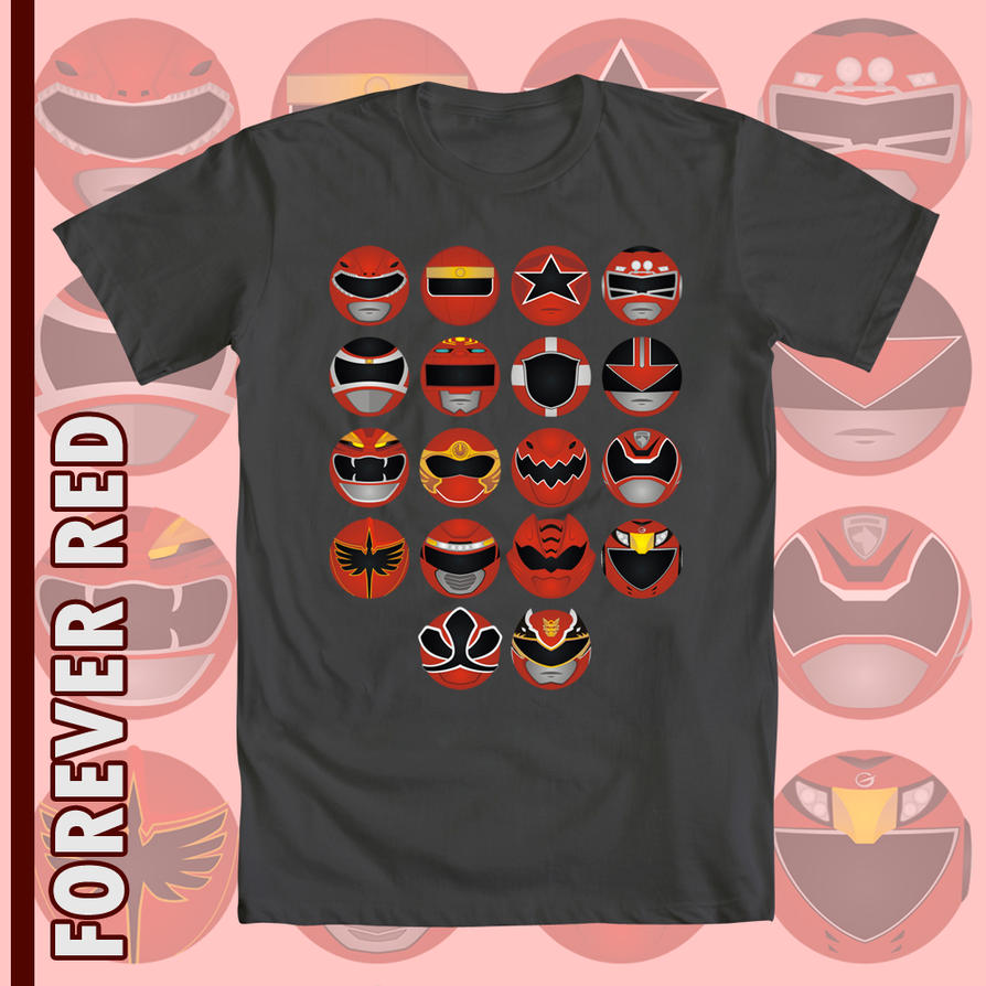 Shirt design red - Power Rangers T Shirt Design Forever Red By Gillbob316