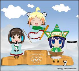 Hanamaru Kindergarten Olympics by chibi-jiji
